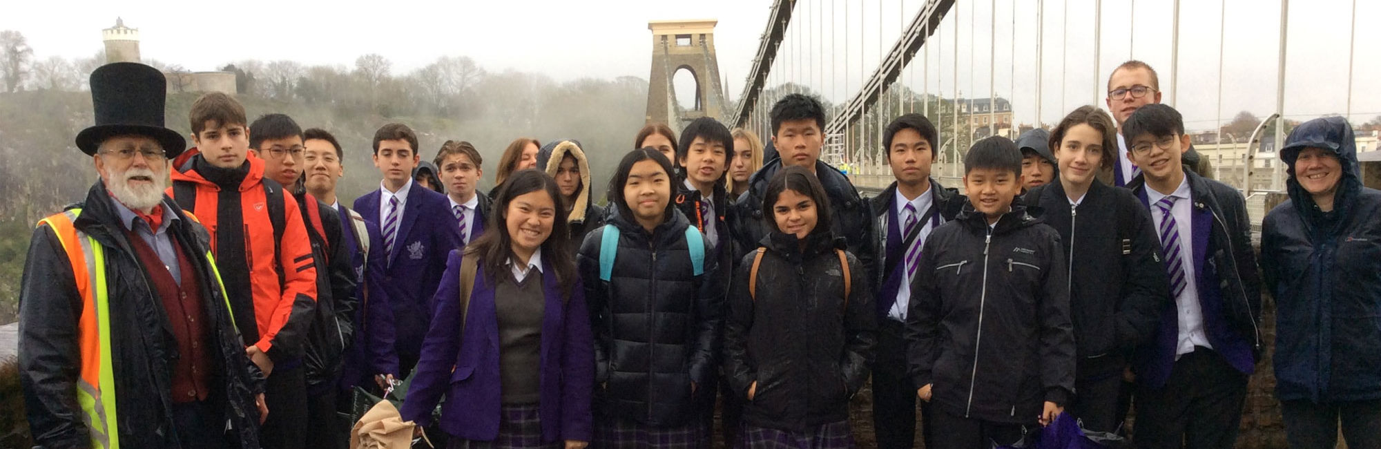 wycliffe college students on a trip