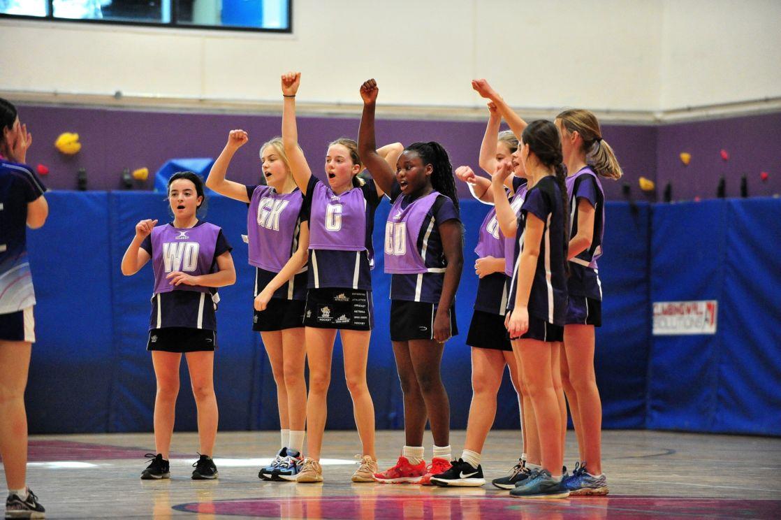 wycliffe pupils playing handball