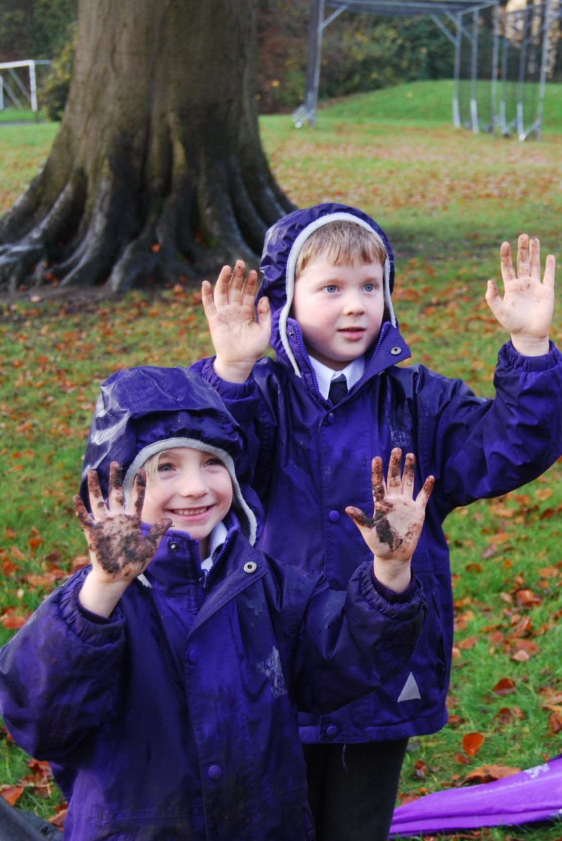 year 1 wycliffe pupils playing outdoors