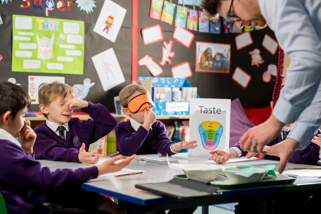 wycliffe nursery pupils testing their senses in class