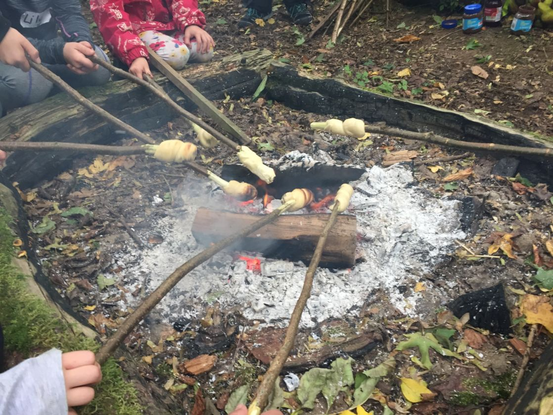 campfire with marshmellows
