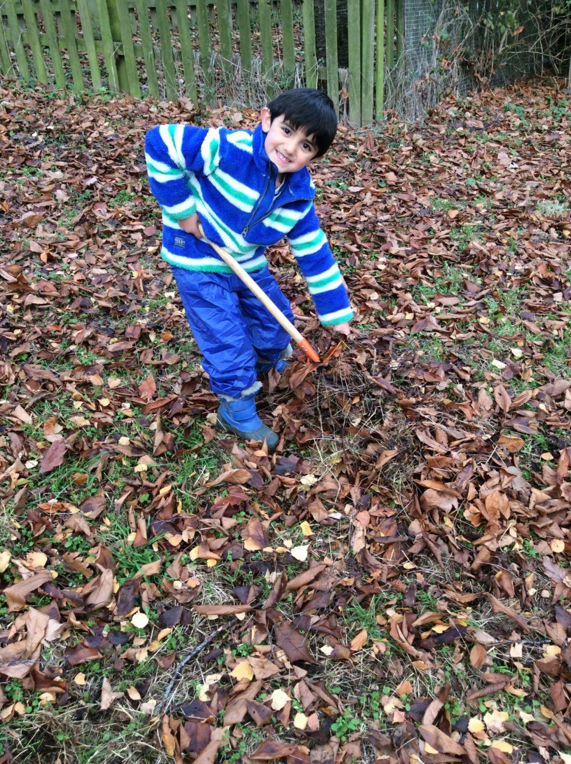 wycliffe boy in forest school