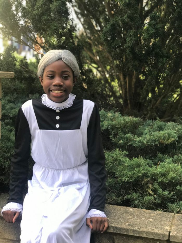 wycliffe pupil in a costume for world book day