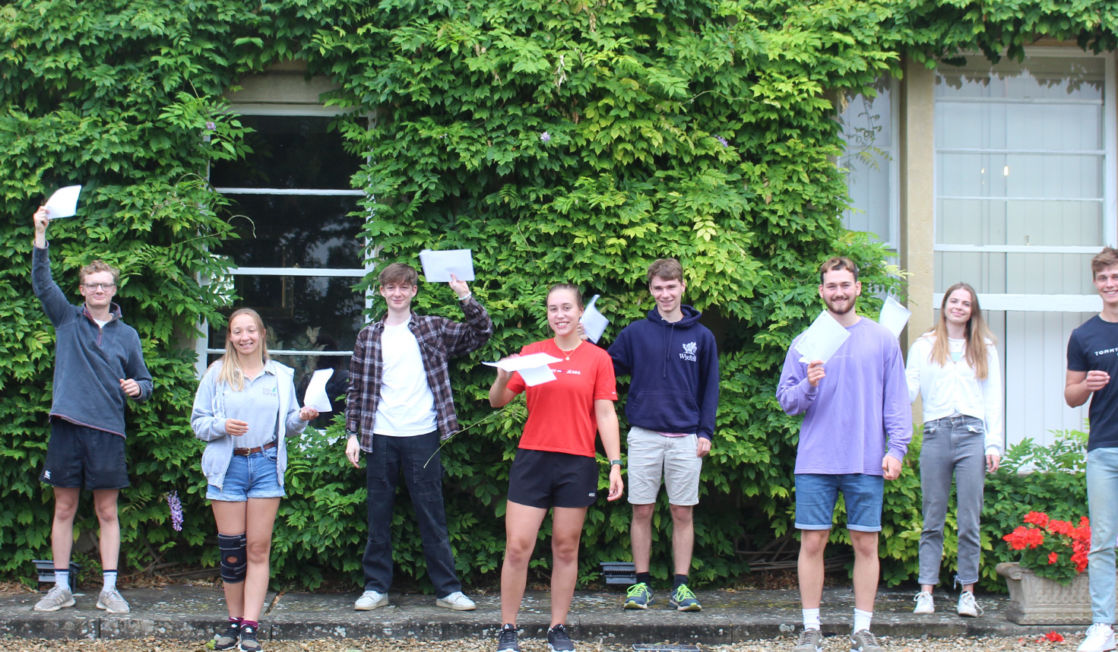 wycliffe students holding their GCSE results