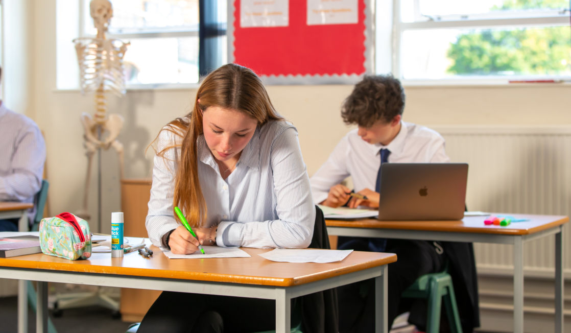wycliffe pupils studying in class