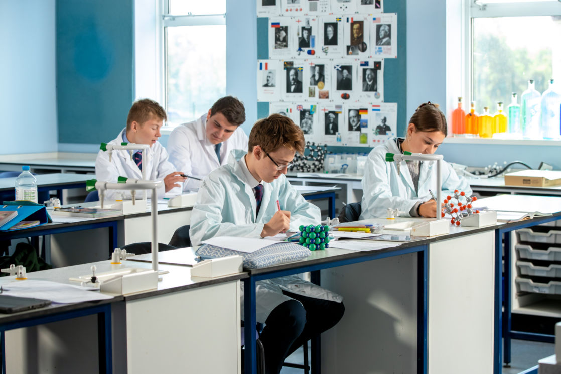 science pupils in class