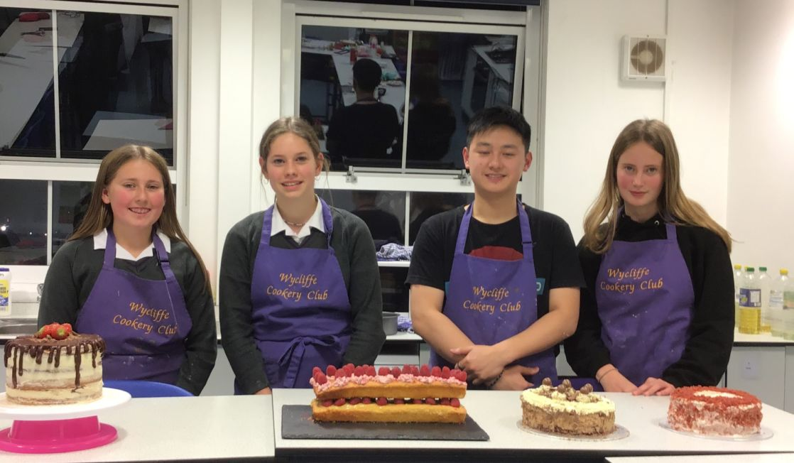 image of cooking club at wycliffe school in gloucestershire