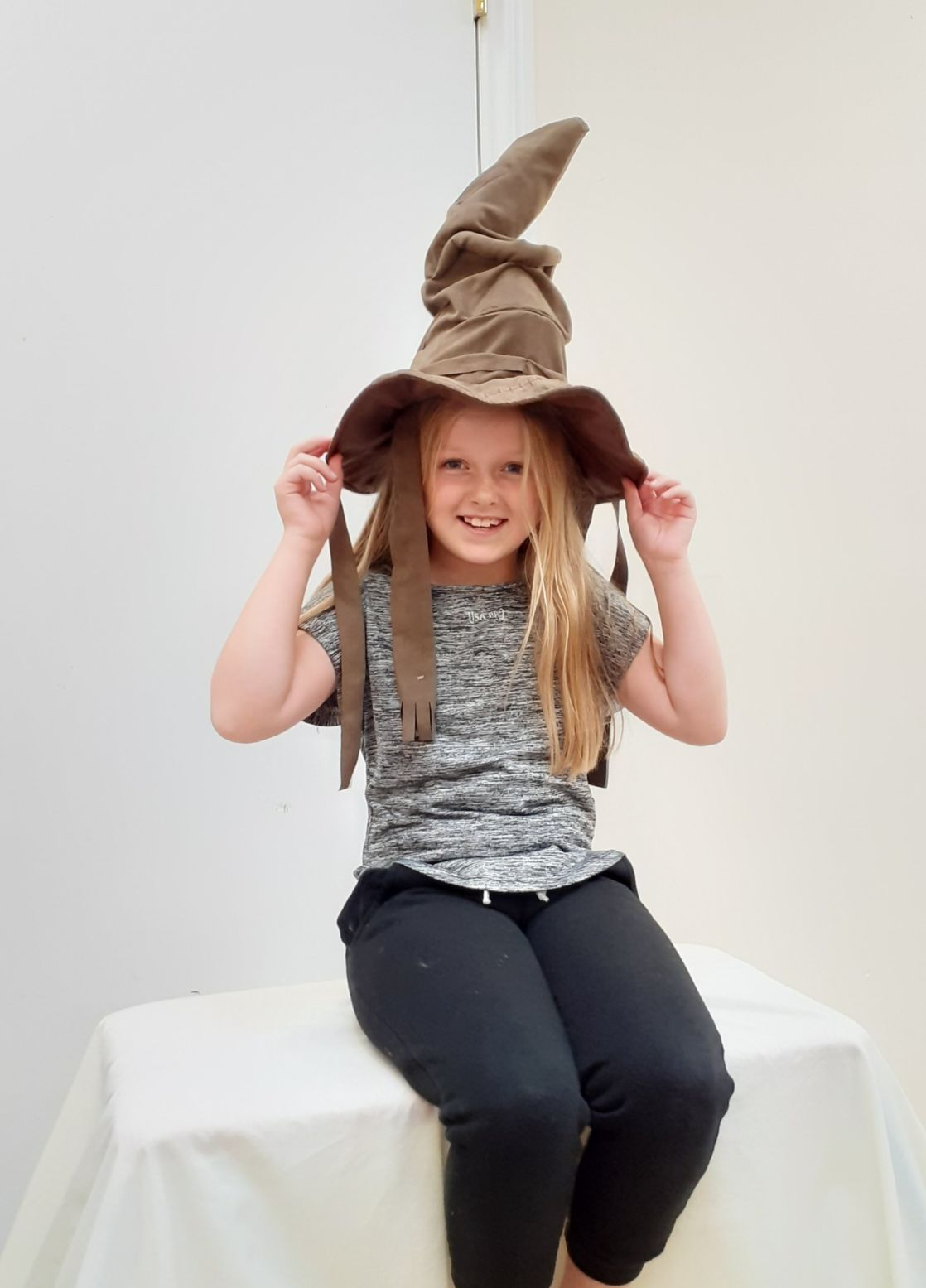 wycliffe pupil using witch hat