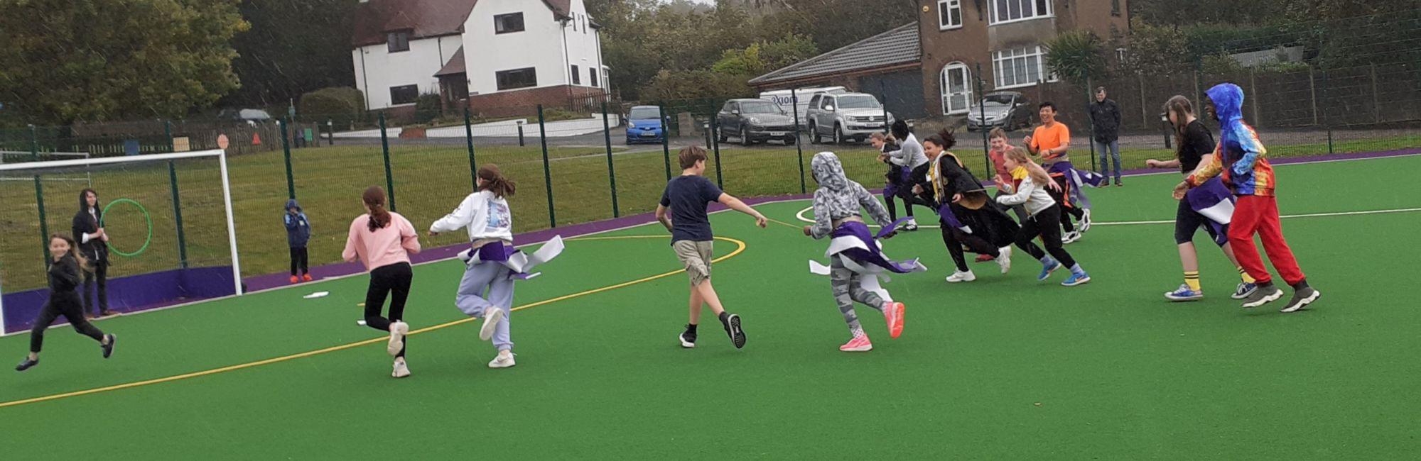wycliffe boarding school pupils outside