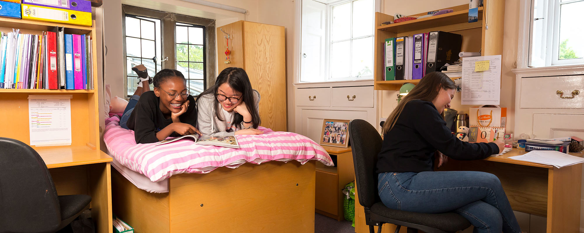senior school boarders in their dorms at wycliffe college gloucestershire
