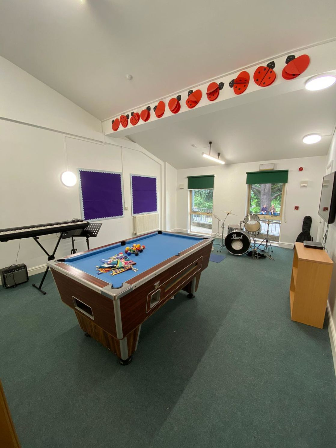 wycliffe boarding school common room for prep students with pool table