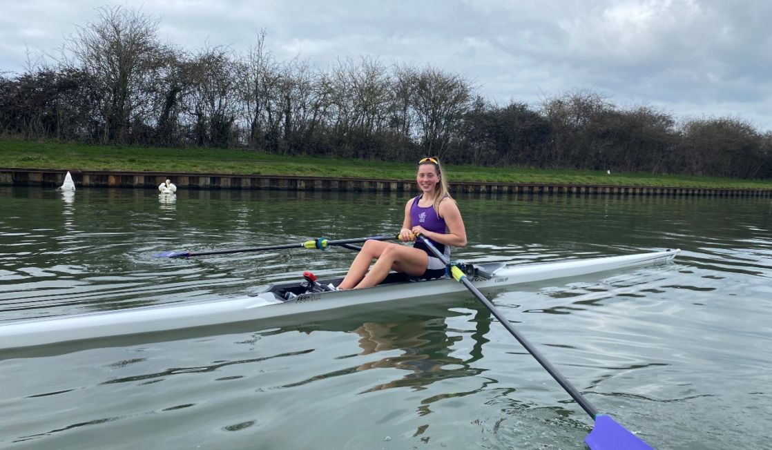 grace from wycliffe college competing in junior rowing trials