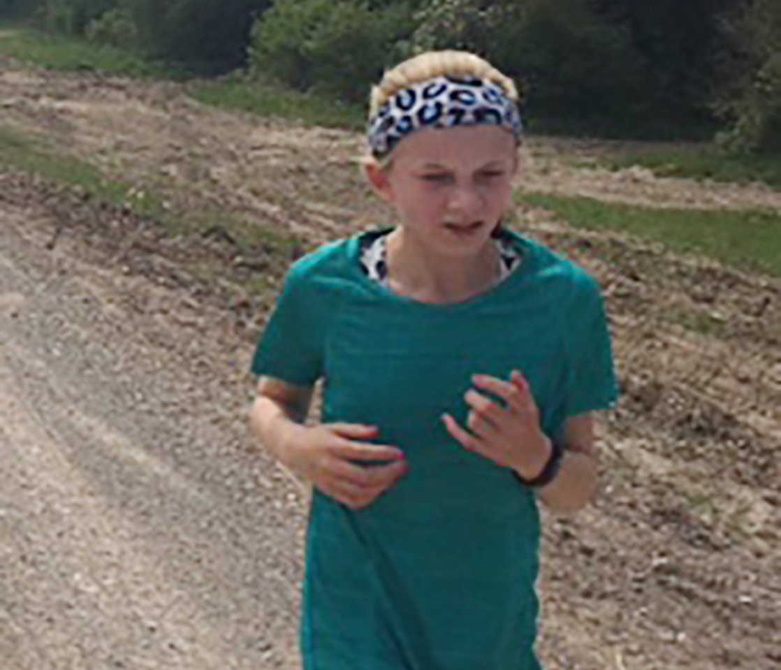Amber Arthurton Running as part of the Kirby Challenge