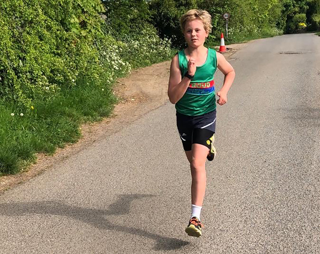 Pupil running as part of the Kirby Challenge