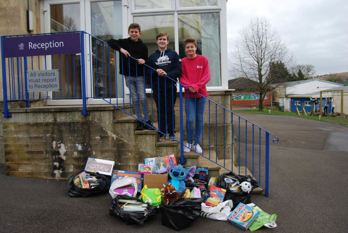 Toby, Sam and Charlie organised non-uniform day on behalf of Pied Piper Appeal.